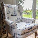 Reupholstered Parker Knoll, Framlingham